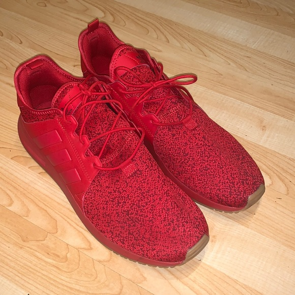 Men's red adidas shoes